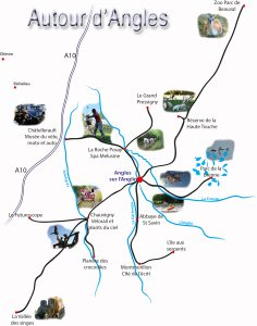 Gîtes la Ligne, Angles sur l'Anglin, loisirs, tourisme, hébergement